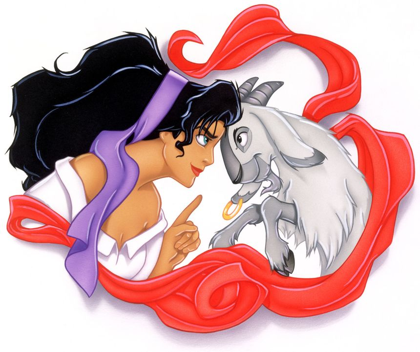 Mit ihrer überaus klugen Ziege Djali teilt  Esmeralda Freude und Leid ... - Bildquelle: The Walt Disney Company