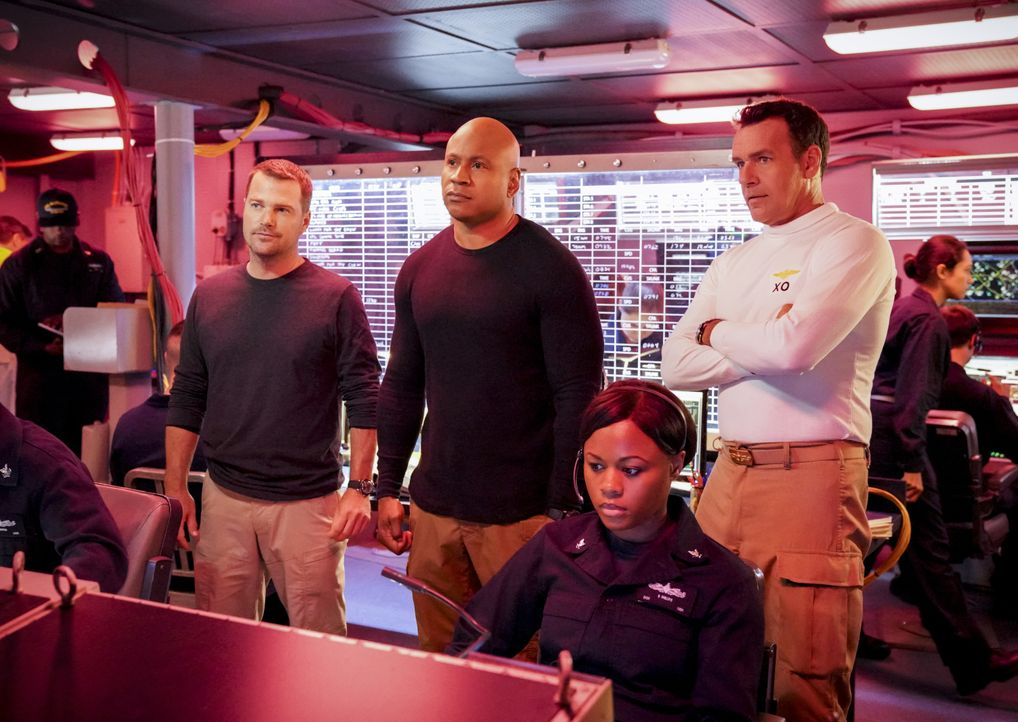 (v.l.n.r.) G. Callen (Chris O'Donnell); Sam Hanna (LL Cool J); Harmon Rabb Jr. (David James Elliott) - Bildquelle: Bill Inoshita 2019 CBS Broadcasting, Inc. All Rights Reserved / Bill Inoshita