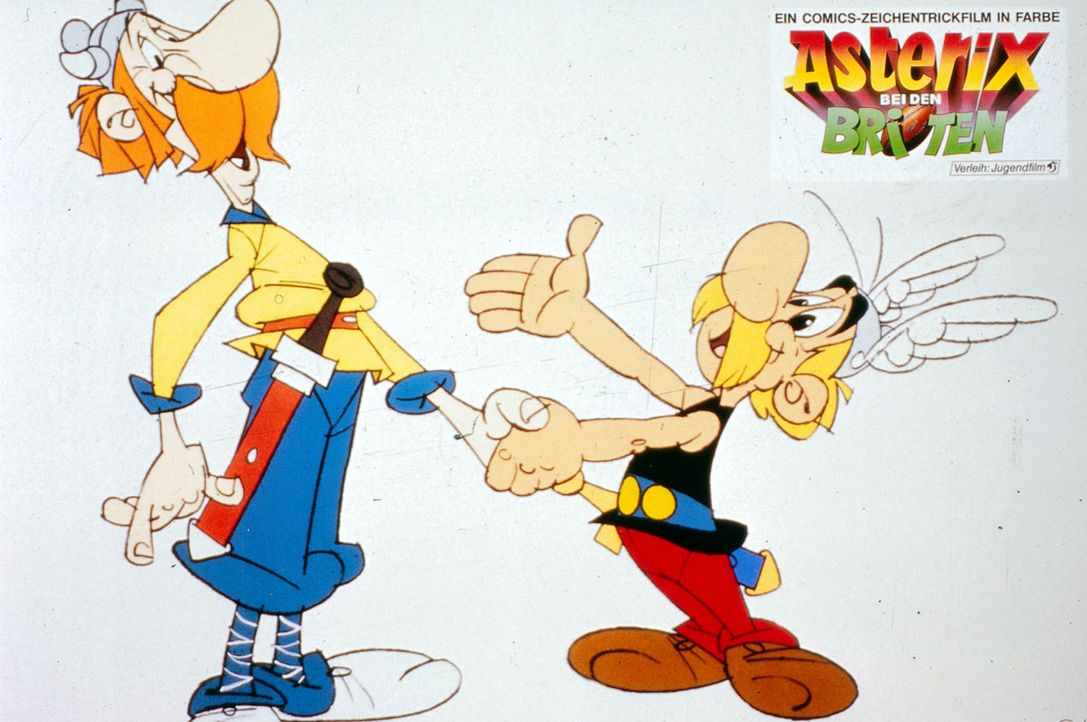 Nachdem Cäsar immer noch kein Mittel findet, das kleine gallische Dorf, in dem Asterix (r.) und Obelix leben, zu besiegen, führt er seine Legionen n... - Bildquelle: Jugendfilm-Verleih GmbH