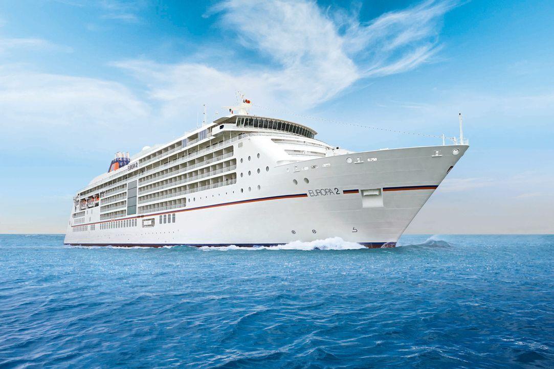 """Luxus auf hoher See: Die """"MS Europa 2"""" soll ihren insgesamt 516 Gästen Kreuzfahrt-Vergnügen vom Feinsten bieten. Dazu gehört nicht nur eine hohe... - Bildquelle: Hapag-Lloyd Kreuzfahrten"""