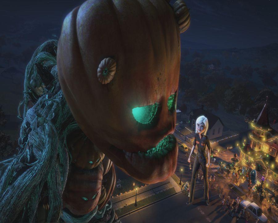 Kaum auf der Erde gelandet, da versuchen Wicked Jack (l.) und seine Kürbisse, ihren teuflischen Plan durchzuführen. Glücklicherweise kann Susan (r.)... - Bildquelle: TM &   2009 DreamWorks Animation L.L.C. All Rights Reserved.