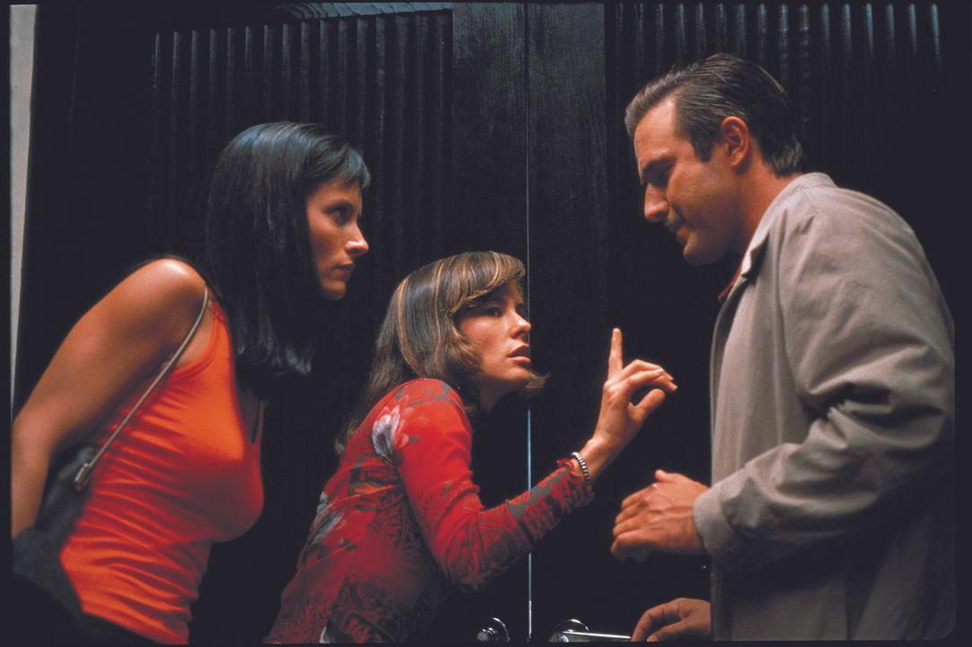Schon bald erkennt Journalistin Gale Weathers (Courteney Cox, l.), dass ihre Ex-Flamme Deputy Dewey Riley (David Arquette, r.) einen heißen Flirt mi... - Bildquelle: Miramax Films
