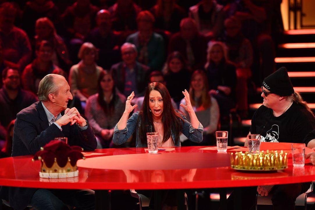 Zum Schreien witzig: Maik Krüger (l.), Lydia Prenner-Kasper (M.) und Markus Krebs (r.)... - Bildquelle: Willi Weber SAT.1
