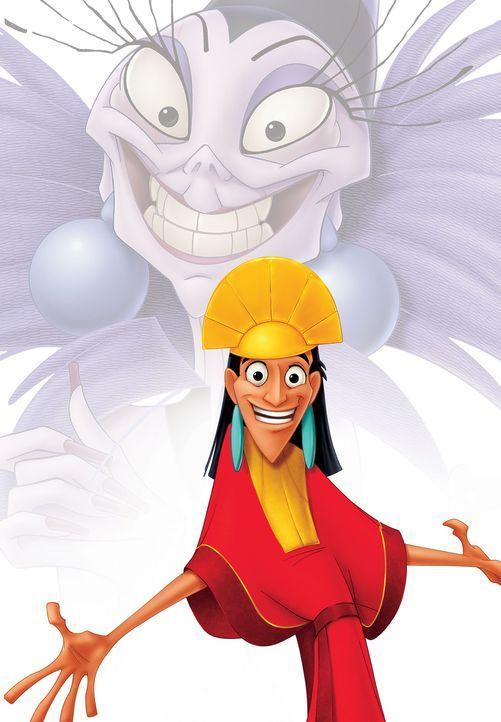Die hinterlistige Yzma macht dem eingebildeten König Kuzco das Leben schwer ... - Bildquelle: Disney Enterprises Inc.