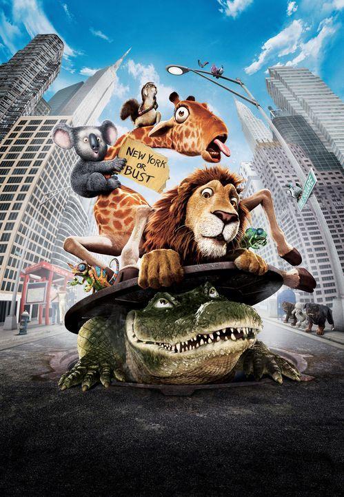 Ein Gruppe Tiere brechen aus dem New Yorker Zoo aus und erleben das Abenteuer ihre Lebens ... - Bildquelle: Disney Enterprises, Inc.  All rights reserved