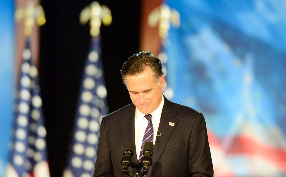 Der Präsidentschaftskandidat der Republikaner Mitt Romney als Verlierer der Wahl.  - Bildquelle: dpa - Bildfunk +++ Verwendung nur in Deutschland