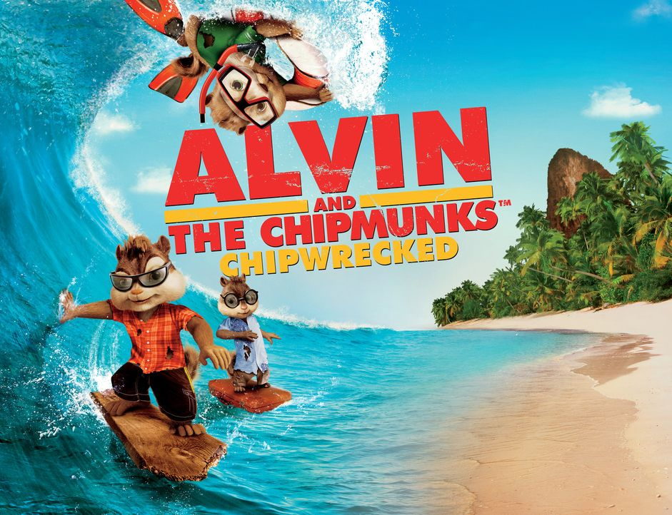 ALVIN AND THE CHIPMUNKS: CHIP-WRECKED - Plakatmotiv - Bildquelle: 2011 Twentieth Century Fox Film Corporation. All rights reserved.