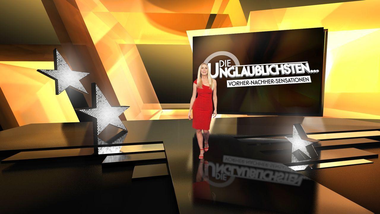 """TV-Comeback für Sonya Kraus! Mit altbekanntem Augenzwinkern präsentiert sie in """"Die Unglaublichsten?"""" skurrile, kuriose und unglaubliche Rankings. - Bildquelle: SAT.1"""