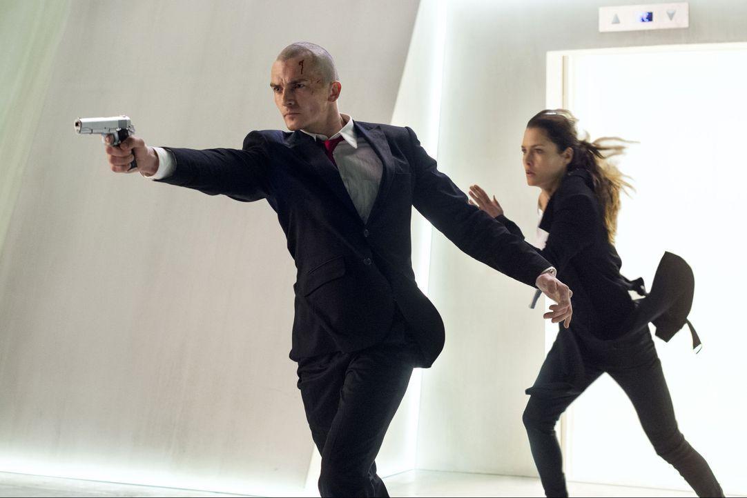 """Agent 47 (Rupert Friend, l.) macht sich auf die Suche nach Katia (Hannah Ware, r.), der Tochter des Erfinders des """"Agentenprogramms"""", um eine negati... - Bildquelle: 2015 Twentieth Century Fox Film Corporation. All rights reserved."""