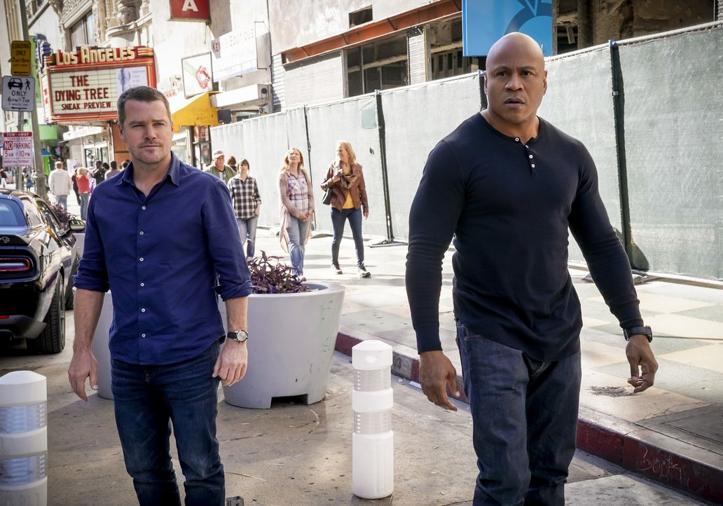 G. Callen (Chris O'Donnell, l.); Sam Hanna (LL Cool J, r.) - Bildquelle: Cliff Lipson 2018 CBS Broadcasting, Inc. All Rights Reserved/Cliff Lipson
