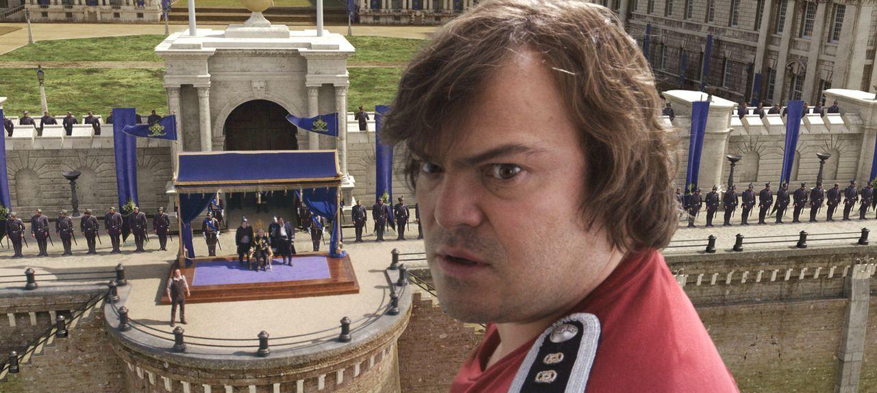 Als Lemuel Gulliver (Jack Black) die Ehre zuteilwird, dass er der königlichen Familie von Liliput gegenübertreten darf, muss er aufpassen nichts f... - Bildquelle: Murray Close TM and   2010 Twentieth Century Fox Film Corporation.  All rights reserved.  Not for sale or duplication.