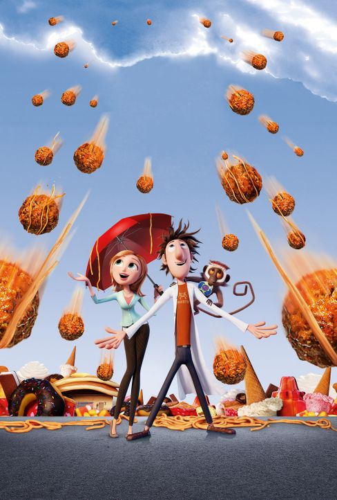 Wolkig mit Aussicht auf Fleischbällchen - Artwork - Bildquelle: 2009 Sony Pictures Animation Inc. All Rights Reserved.