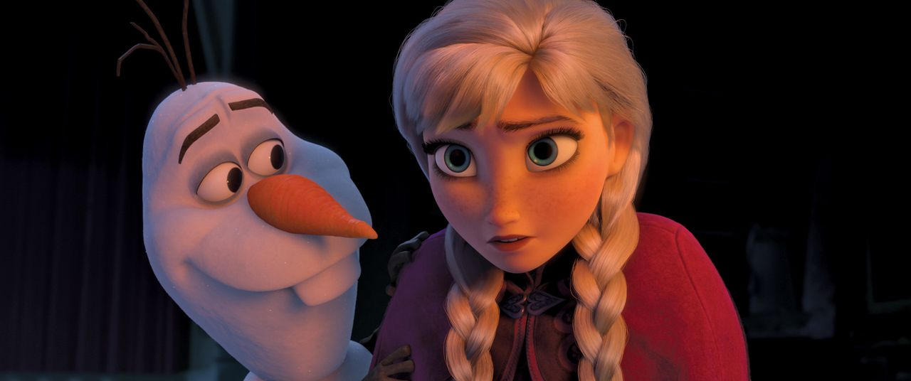 Olaf (l.); Elsa (r.) - Bildquelle: 2013 Disney. All Rights Reserved
