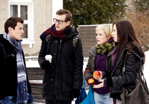Timo teilt seinen Freunden, Emma und Hotte der S.T. AG mit, dass er nicht Vater wird. - Bildquelle: David Saretzki - Sat1