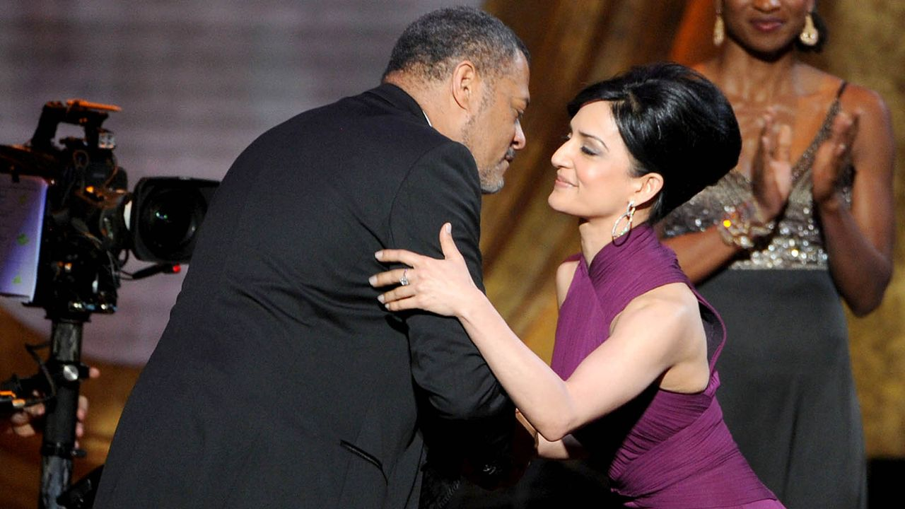 Laurence-Fishburne-Archie-Panjabi-2012-2-17-getty-AFP - Bildquelle: getty AFP
