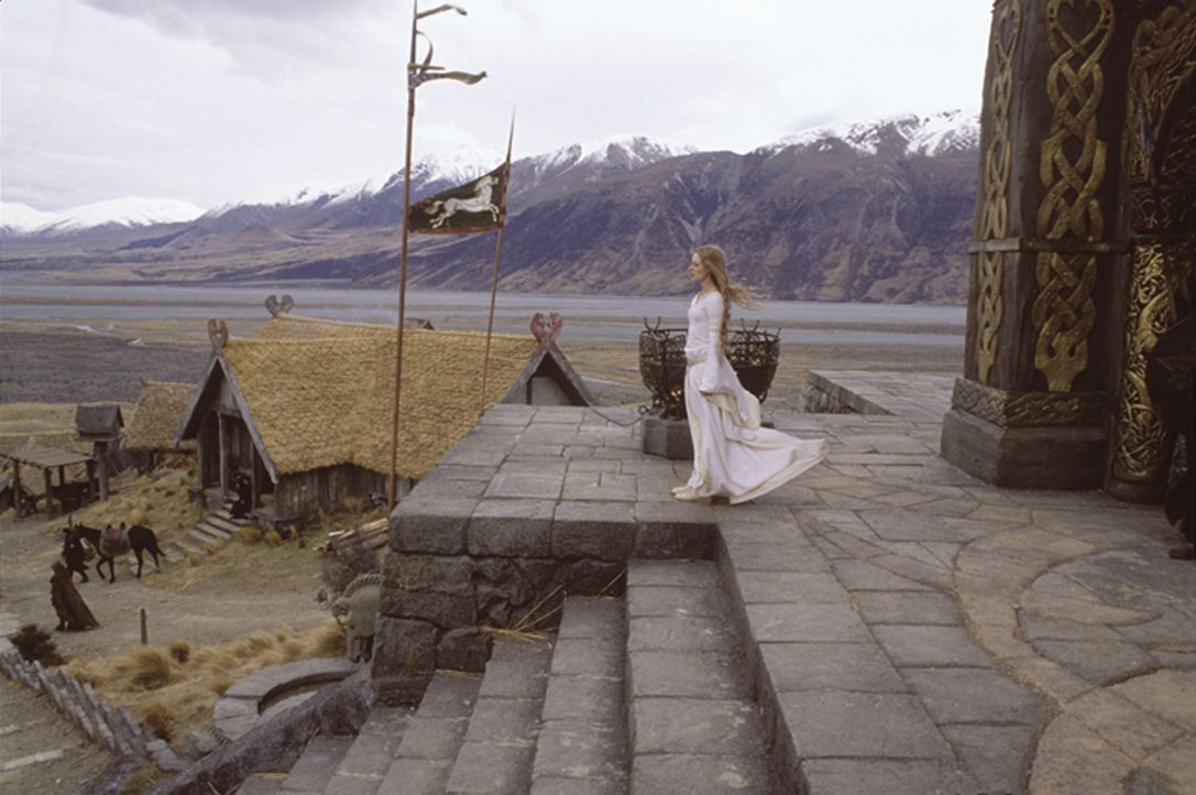 Theodons Nichte Eowyn (Miranda Otto) muss erfahren, dass Aragorns Herz einer anderen gehört ... - Bildquelle: Warner Brothers