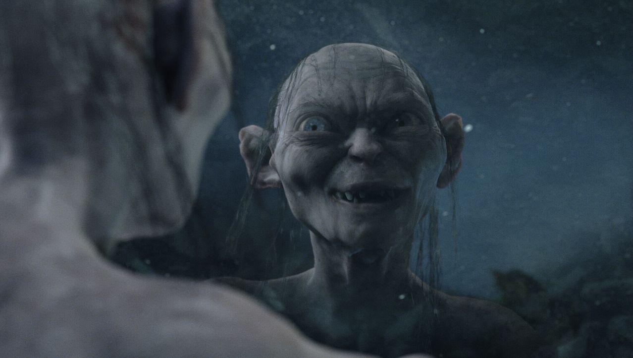 Gollum (Andy Serkis) gelingt es, Unfrieden in die Freundschaft zwischen Sam und Frodo zu bringen ... - Bildquelle: Warner Bros.