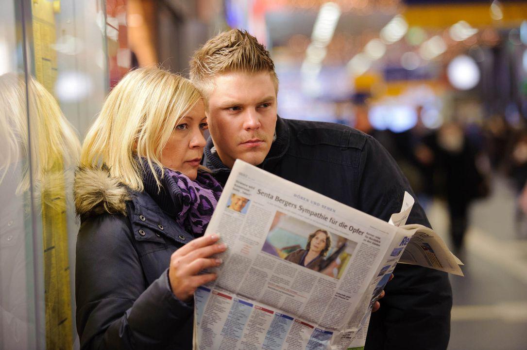 Die privaten Ermittler Stefanie Scholz (l.) und Karsten Grabowski (r.) im Einsatz ... - Bildquelle: SAT.1
