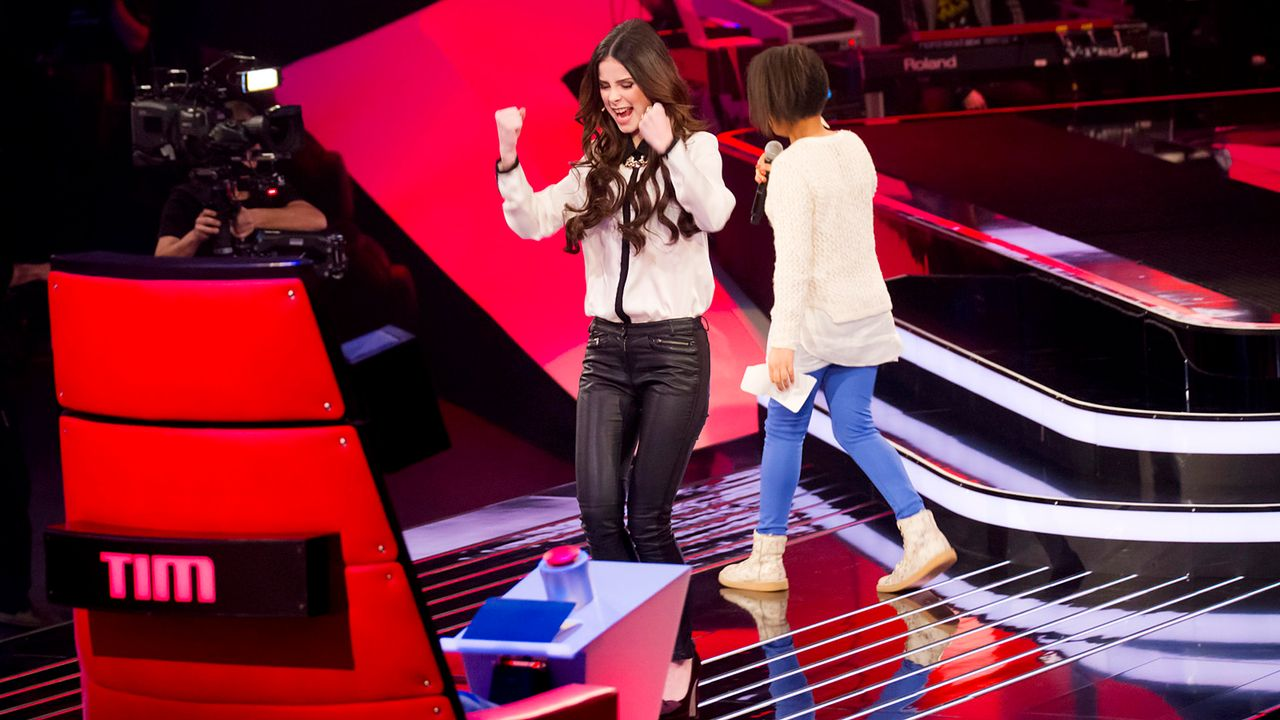 The-Voice-Kids-epi03-danach-Judith-SAT1-Richard-Huebner - Bildquelle: SAT.1/Richard Hübner