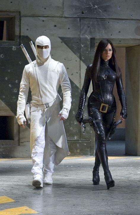 """Haben die Geheimorganisation Cobra zu einem blutigen Verein gemacht: Ninja Meister Storm Shadow (Byung-hun Lee, l.) und die """"Baroness"""" (Sienna Mille... - Bildquelle: 2009 Paramount Pictures Corporation. All Rights Reserved. Reserved."""