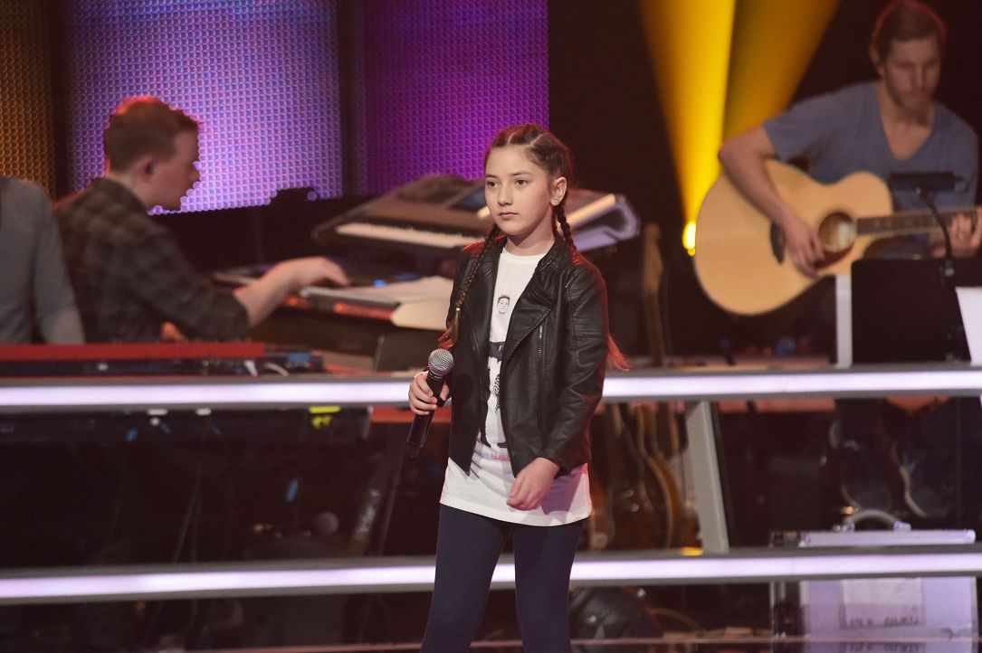 The-Voice-Kids-Stf03-Epi05-50-Jorena-SAT1-Andre-Kowalski - Bildquelle: SAT.1/ Andre Kowalski