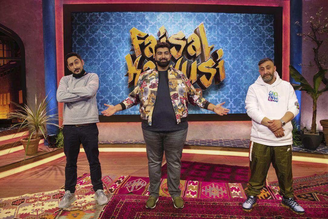 (v.l.n.r.) Eko Fresh; Faisal Kawusi; Kida Khodr Ramadan - Bildquelle: Steffen Z. Wolff SAT.1 / Steffen Z. Wolff