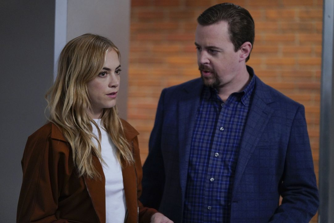 Ellie Bishop (Emily Wickersham, l.); Timothy McGee (Sean Murray, r.) - Bildquelle: Cliff Lipson 2019 CBS Broadcasting, Inc. All Rights Reserved / Cliff Lipson
