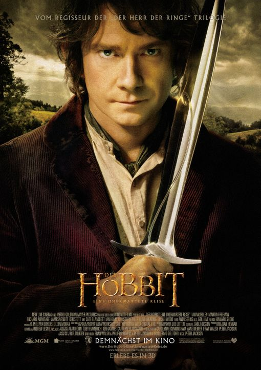 Der Hobbit: Eine unerwartete Reise - Plakatmotiv - Bildquelle: 2012 METRO-GOLDWYN-MAYER PICTURES INC. AND WARNER BROS.ENTERTAINMENT INC. ALL RIGHTS RESERVED.