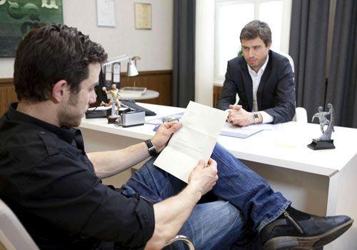 Michael lässt sich nicht einschüchtern und macht Julian ein Kampfansage ... - Bildquelle: David Saretzki - Sat1