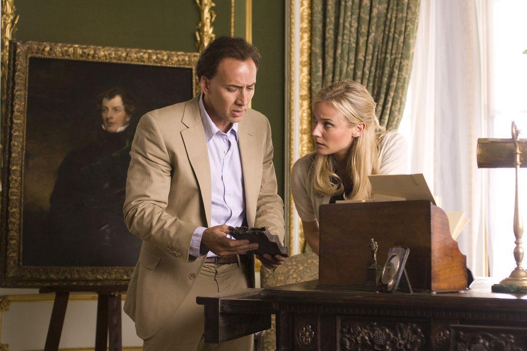 Der Archäologe und Schatzsucher Benjamin Franklin Gates (Nicolas Cage, l.) kämpft gemeinsam mit Abigail Chase (Diane Kruger, r.) um die Ehre seine... - Bildquelle: Disney Enterprises, Inc.  All rights reserved.
