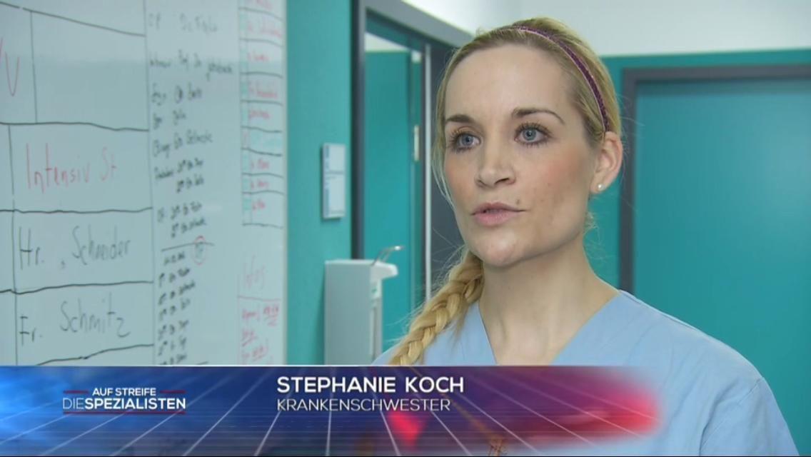 Krankenschwester Stephanie Koch