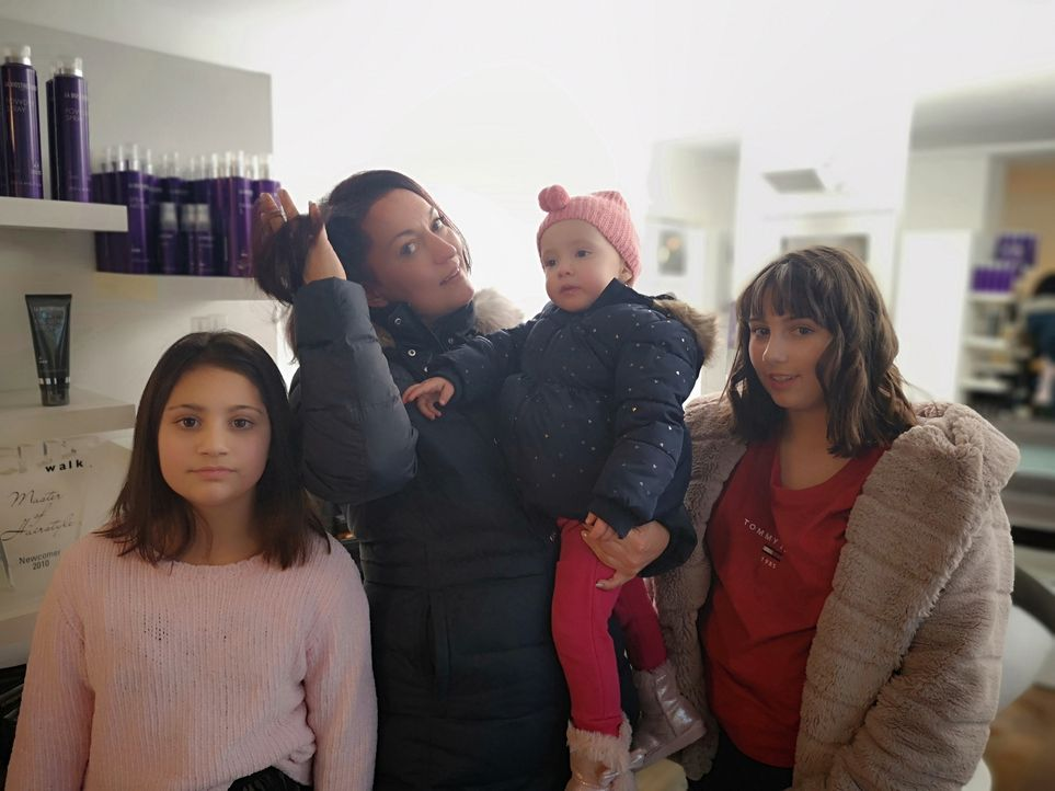 (v.l.n.r.) Melina Raspa; Ella Raspa; Eliana Raspa; Luana Raspa - Bildquelle: SAT.1