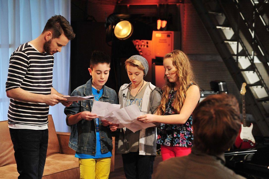 The-Voice-Kids-Stf02-Epi07-Vanessa-Joel-Leif-8-SAT1-Andre-Kowalski - Bildquelle: SAT.1/Andre Kowalski