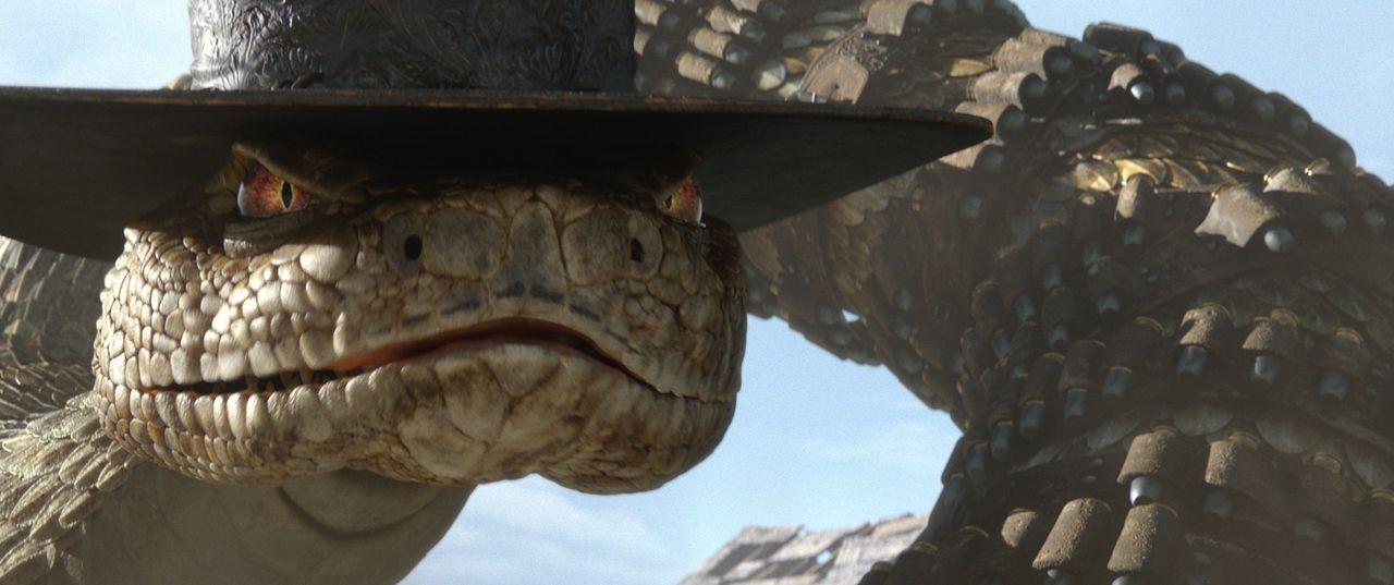 Im Auftrag des Bösen macht die hinterlistige Klapperschlange Jake es Rango unmöglich seinen Job als Sheriff auszuführen ... - Bildquelle: Paramount Pictures. All rights reserved.