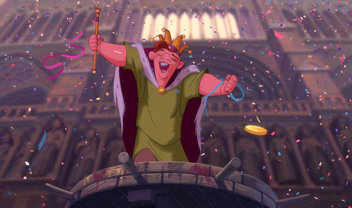 Als sich Quasimodo, der bucklige Glöckner von Notre Dame, verbotenerweise in das bunte Getümmel auf den Straßen von Paris während des Narrenfestes s... - Bildquelle: The Walt Disney Company