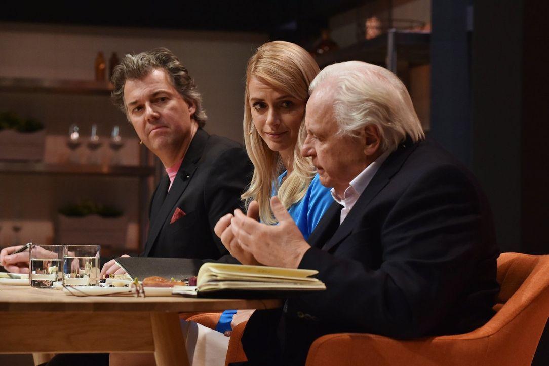 (v.l.n.r.) Peter Maria Schnurr; Alexandra Kilian; Eckart Witzigmann - Bildquelle: Kay Kirchwitz SAT.1