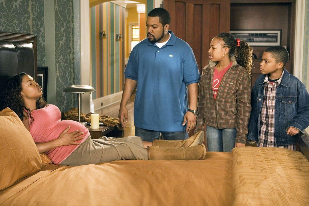 Die Familie (Nia Long, l., Aleisha Allen, 2.v.r., Philip Bolden, r.) wächst, und Nick (Ice Cube, 2.v.l.) muss dringend ein Haus finden. Schnell - vi... - Bildquelle: 2007 Revolution Studios Distribution Company, LLC. All Rights Reserved.
