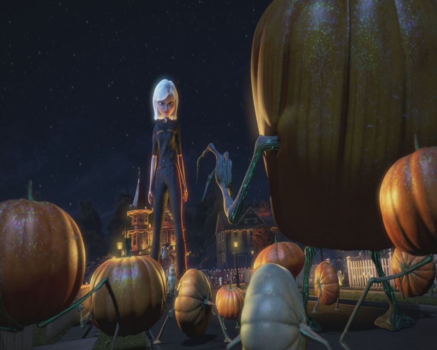 Nimmt den Kampf gegen die entarteten Kürbisse auf: Susan (hinten) ... - Bildquelle: TM &   2009 DreamWorks Animation L.L.C. All Rights Reserved.
