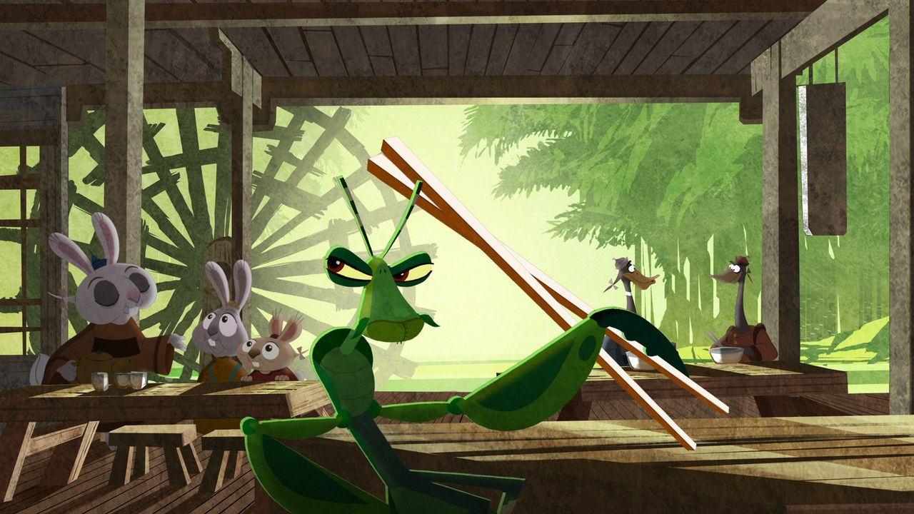 Mantis mag der kleinste der Fünf sein, doch das würde er nie zugeben ... - Bildquelle: 2008 DREAMWORKS ANIMATION LLC. ALL RIGHTS RESERVED.