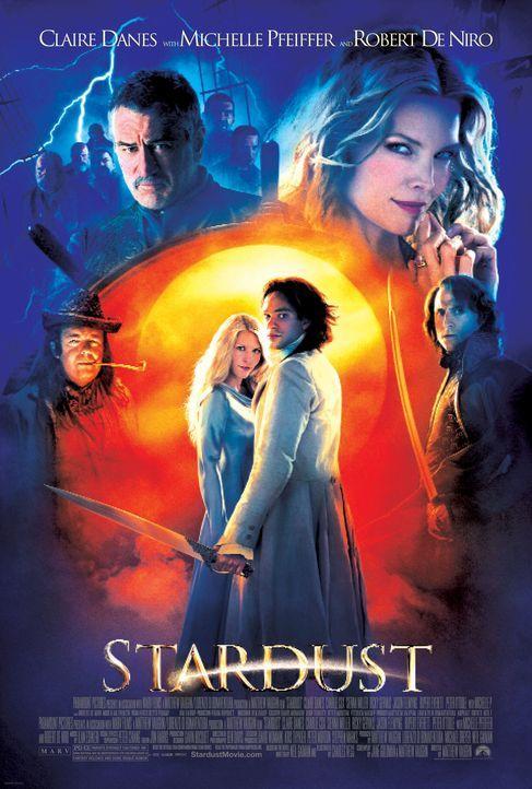 Eine gefallene Sternschnuppe (Claire Danes, M.l.), ein mutiger Junge (Charlie Cox, M.r.), eine böse Hexe (Michelle Pfeiffer, hinten r.) und ein gut... - Bildquelle: 2006 Paramount Pictures. All Rights Reserved.