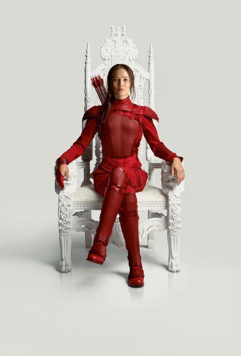 Als Symbol der Revolution tritt Katniss (Jennifer Lawrence) in die Öffentlichkeit, um im finalen Kampf gegen das Capitol alle Distrikte vereint anzu... - Bildquelle: TM & © 2015 Lions Gate Entertainment Inc. All rights reserved.