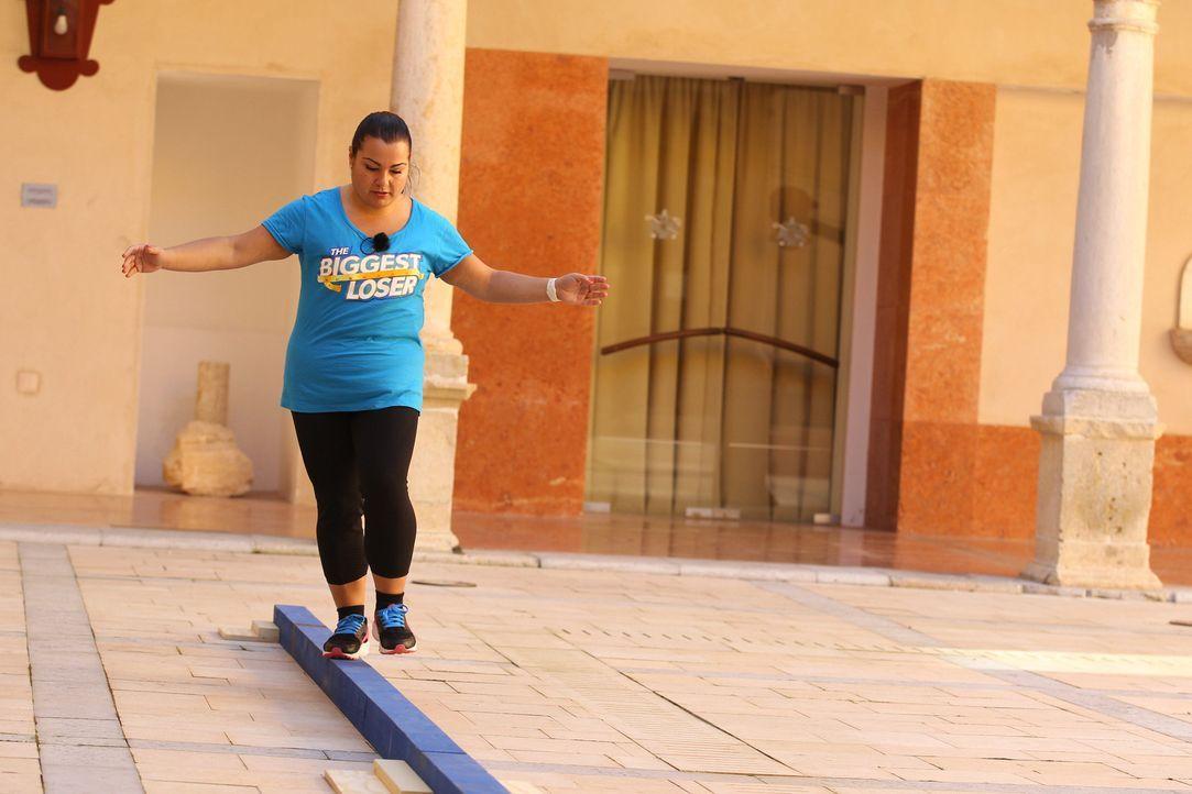 Balance & Brain: Dani kämpft um den Einzug ins Finale ... - Bildquelle: SAT.1/Enrique Cano