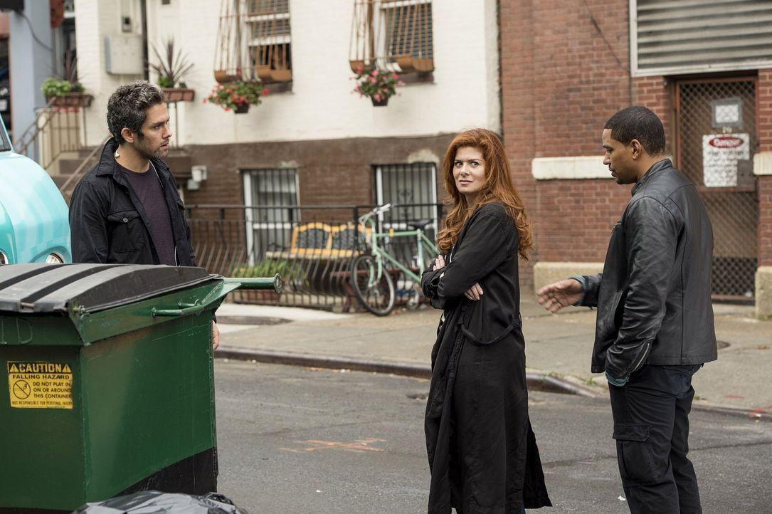 Als von der Müllabfuhr eine gefrorene Leiche gefunden wird, beginnen Laura (Debra Messing, M.) und Billy (Laz Alonso, r.) mit den Ermittlungen und s... - Bildquelle: Warner Bros. Entertainment, Inc.