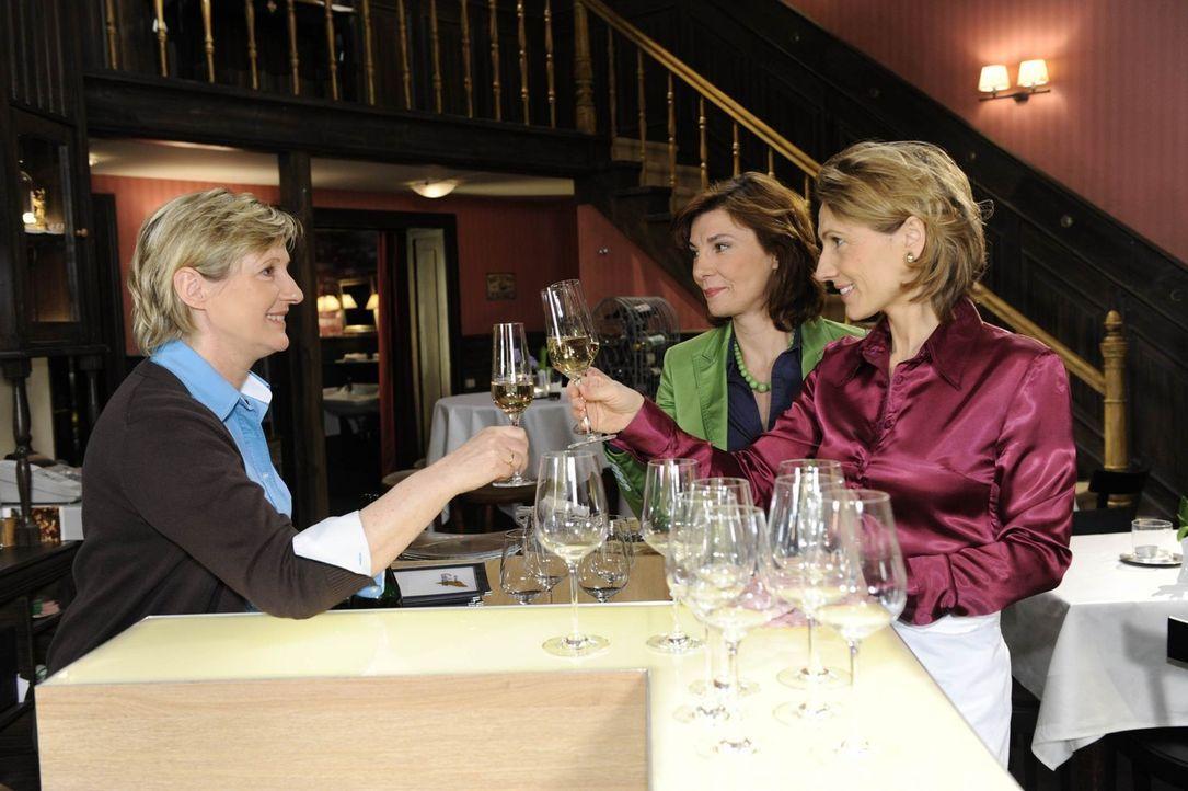 Susanne (Heike Jonca, l.), Steffi (Karin Kienzer, M.), Brigitte (Joana Schuemer, r.) haben sich zu einem Mädelsabend verabredet. - Bildquelle: SAT.1