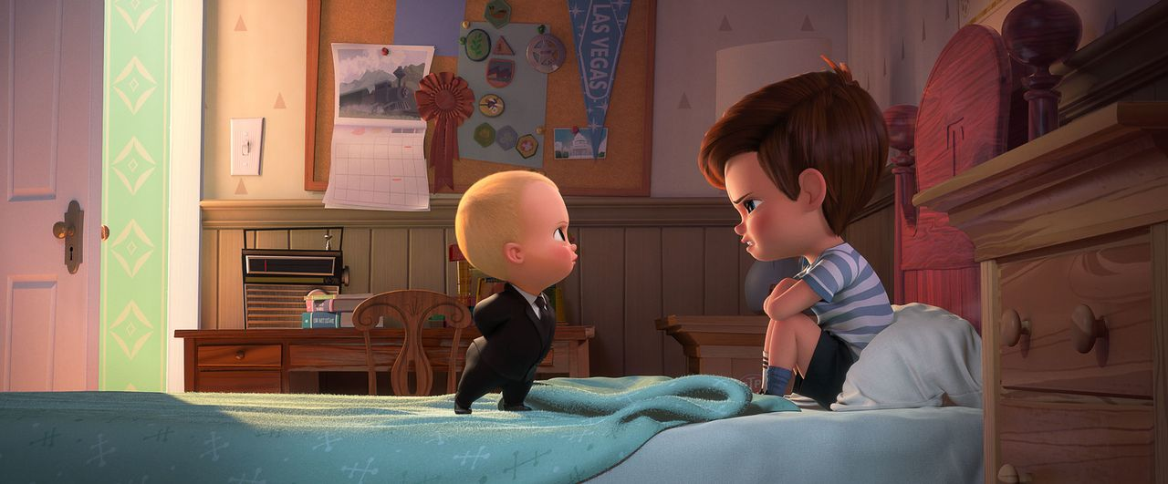 Boss Baby (l.); Tim (r.) - Bildquelle: 2017 DreamWorks Animation, L.L.C.  All rights reserved.