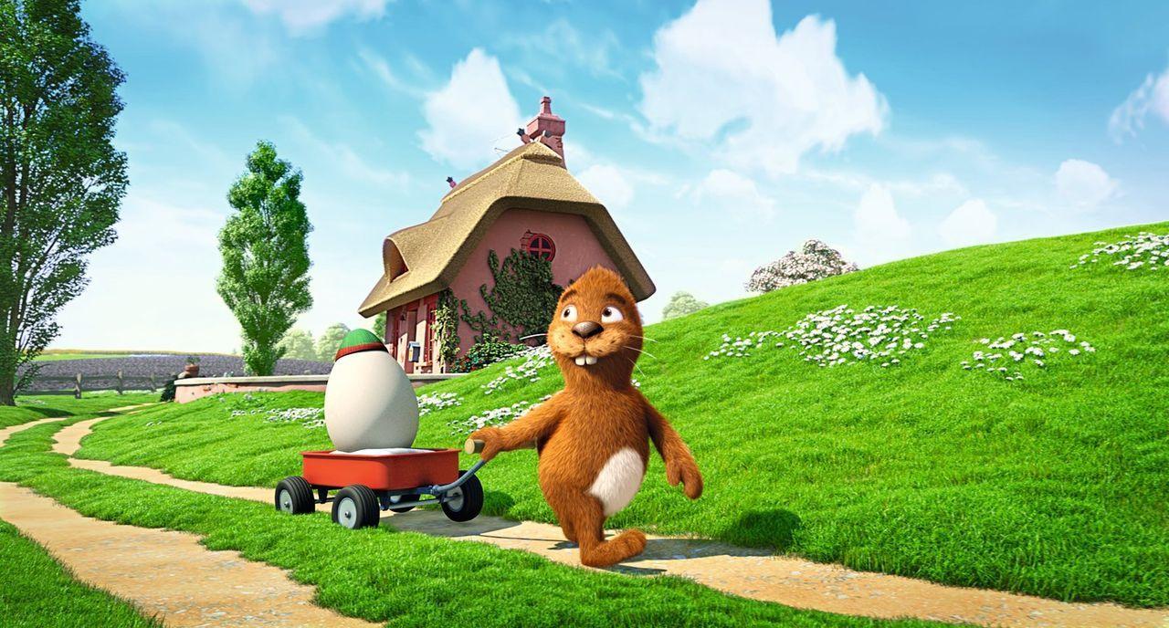 Der Keinohrhase wünscht sich schon so lange einen Freund, wird er doch von den anderen Tieren immer gehänselt und ausgeschlossen. Als er dann ein Ei... - Bildquelle: Warner Brothers