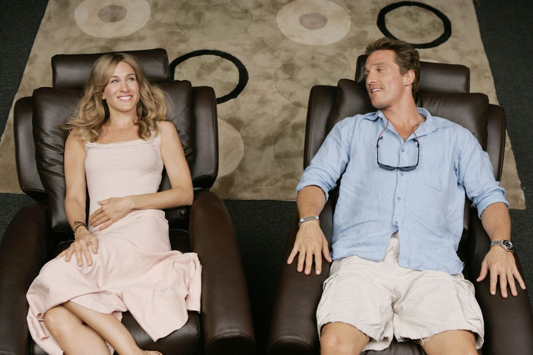 Endlich steht sie vor ihm, die Frau (Sarah Jessica Parker, l.), von der er schon immer träumte. Dumm nur, dass es Frauen so ganz und gar nicht sexy... - Bildquelle: TM &   Paramount Pictures. All Rights Reserved.