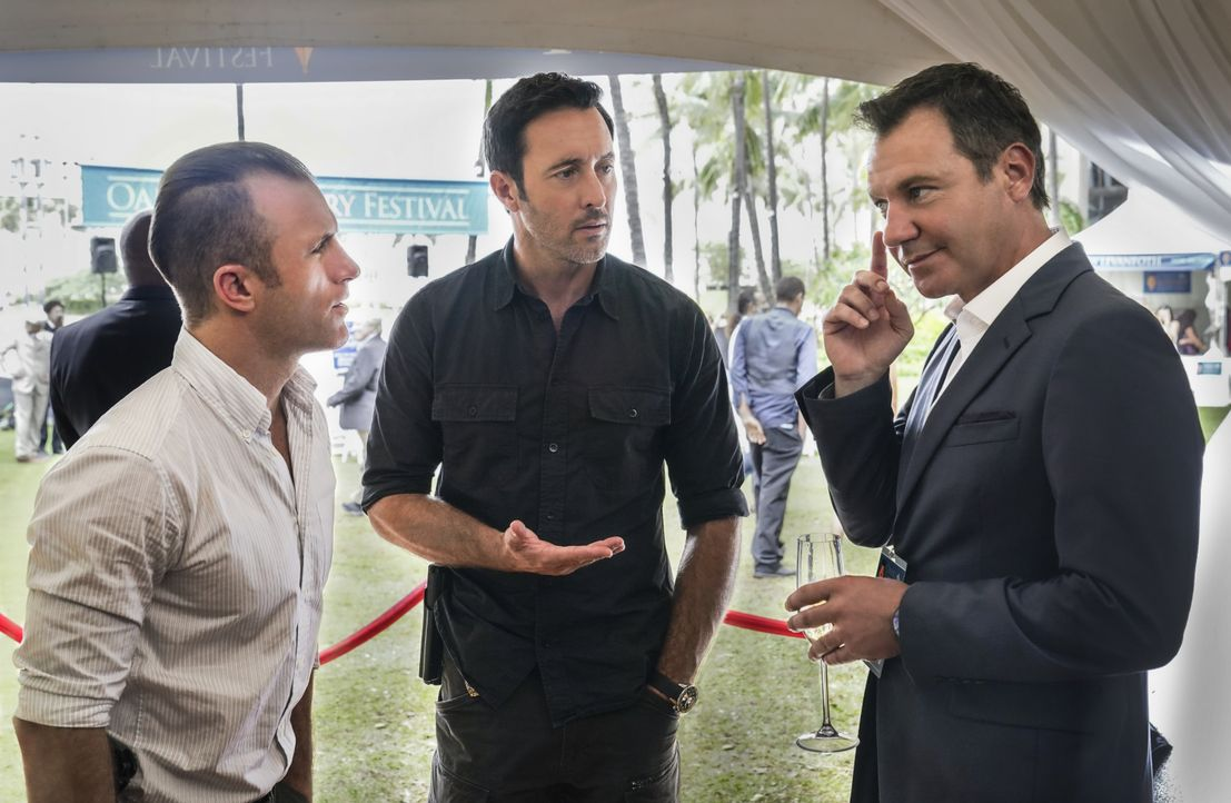 (v.l.n.r.) Danny Williams (Scott Caan); Steve McGarrett (Alex O'Loughlin); Harry Langford (Chris Vance) - Bildquelle: Karen Neal 2020 CBS Broadcasting, Inc. All Rights Reserved / Karen Neal