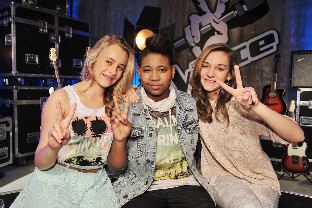 The-Voice-Kids-Stf02-Epi07-Jamica-Nadine-Sarah-2-SAT1-Andre-Kowalski - Bildquelle: SAT.1/Andre Kowalski