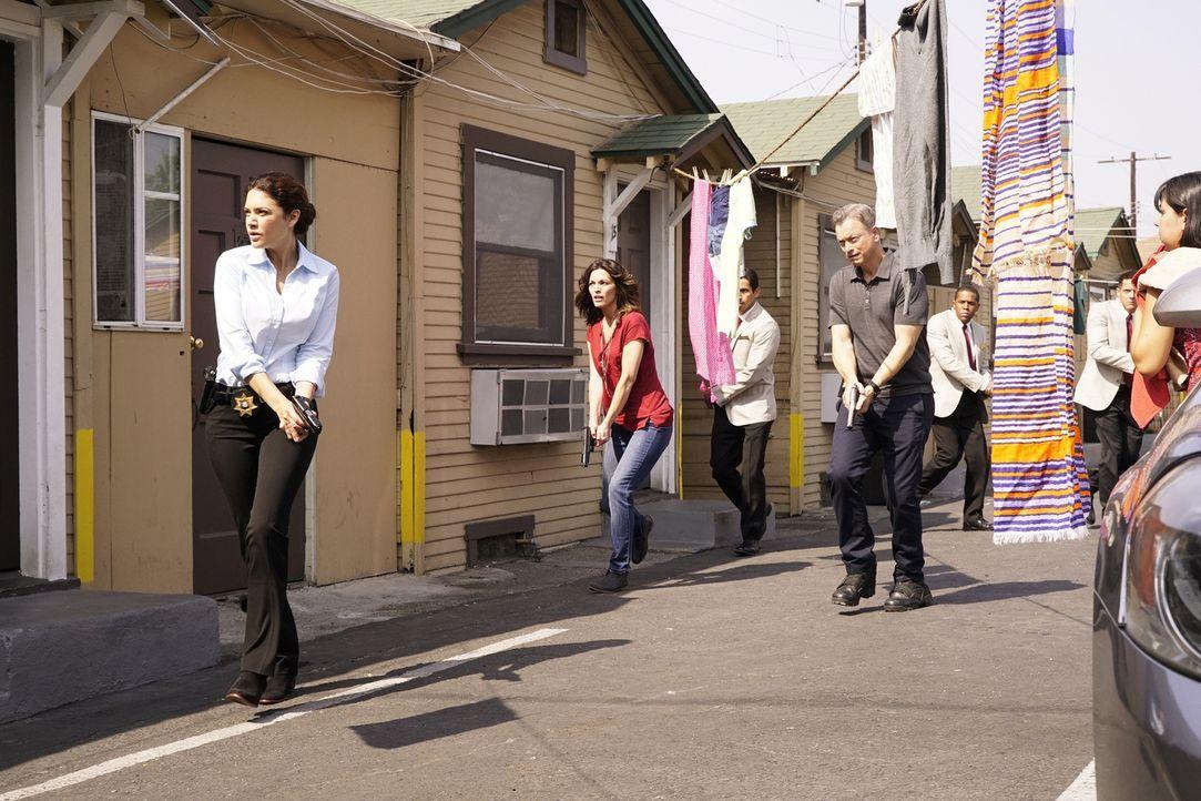 Clara (Alana De La Garza, 2.v.l.), Jack (Gary Sinise, 2.v.r.) und ihr Team werden nach Mexico geschickt, um dort den Mord an einer amerikanischen Ur... - Bildquelle: Robert Voets 2015 American Broadcasting Companies, Inc. All rights reserved.